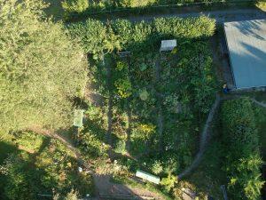 Ein Blick aus der Luft auf unseren Garten